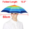 "Fishing Elastic Headband Polyester Rainbow Umbrella Hat Cap 12.2""..."