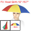 Outdoor Fishing Foldable Umbrella Hat Headwear Cap Red Green Blue...
