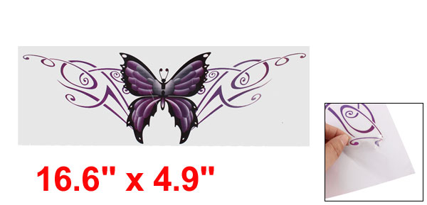 Purple Blue Car Exterior Decorative Butterfly Design Blink Decal Sticker