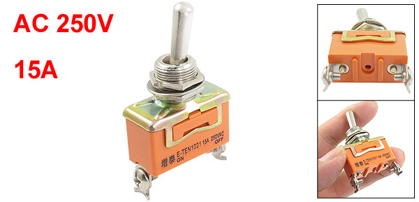 AC250V 15A ON-OFF SPST 2 Position 2 Terminals Toggle Switch