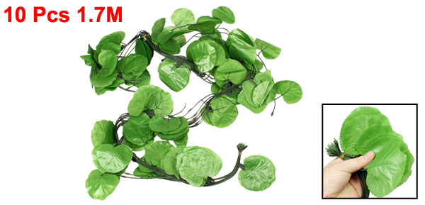 10 Pcs 1.7M Long Artificial Green Fabric Grape Leaves Decoration
