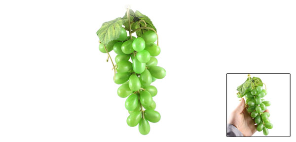 Green Plastic Faux Artificial Grape Desk Decoration