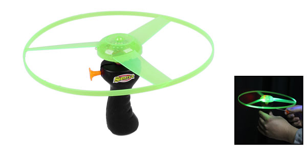 Green Red Blue LED Light Flying Saucer Helicopter Toy for Child Kid