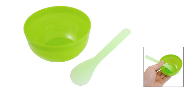 Women 2 in 1 DIY Facial Mask Mixing Stick Beauty Bowl Green