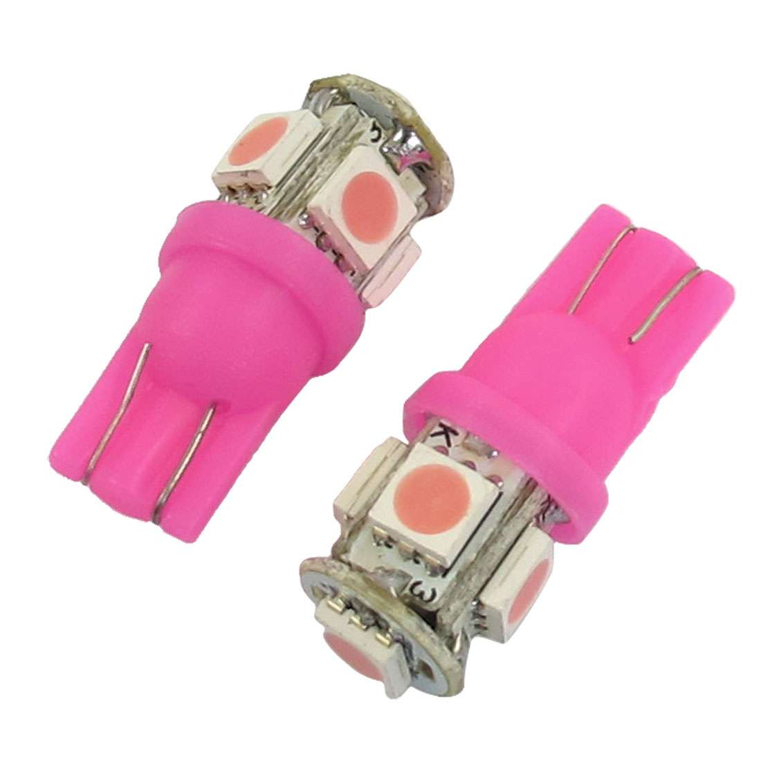 2-x-T10-194-168-W5W-Pink-5050-SMD-5-LED-Car-Light-Bulb-lamp-12V