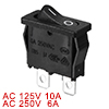 AC 250V 6A 10A 125V 2 Wire Lead SPST On / Off Mini Snap In Boat R...
