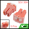 Car Watermelon Red 30A Plastic Case Female 32V Link Slow Blow Fus...