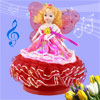 Red Fuchsia Butterfly Princess Design Wind up Clockwork Music Box...