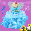 Blue Dress Butterfly Princess Shaped Wind up Clockwork Music Box Fur Elise