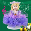 Beige Hair Purple Skirt Lovely Girl Wind up Clockwork Music Box F...