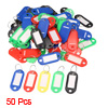 Barber Salesman Colorful Plastic Name Tag Badge Clip Holder Keyring 50 Pcs