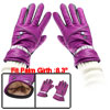 Winter Outdoor Cycling Purple Faux Leather Full Finger Warm Glove...