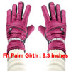 Winter Outdoor Cycling Red Faux Leather Full Finger Warm Gloves P...