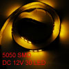 Car Yellow 30 5050 SMD LED Flexible Bar Strip Light DC 12V 60cm