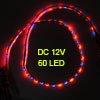 60cm 60 SMD LED Flexible Waterproof Light Strip Bulbs Red Blue DC...
