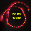60cm 60 SMD LED Flexible Waterproof Light Strip Bulbs White Red D...