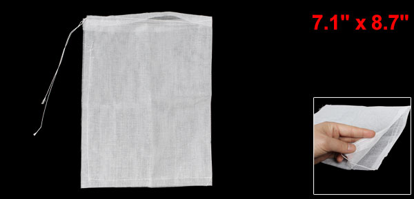 Kitchen Soup Ingredients White Cotton Mesh Filtration Filter Bag
