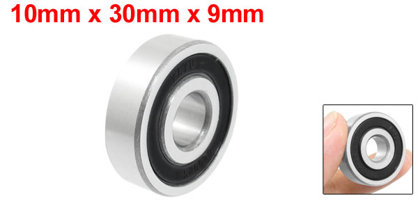 10mm x 30mm x 9mm Skating Deep Groove Ball Bearings 6200RS