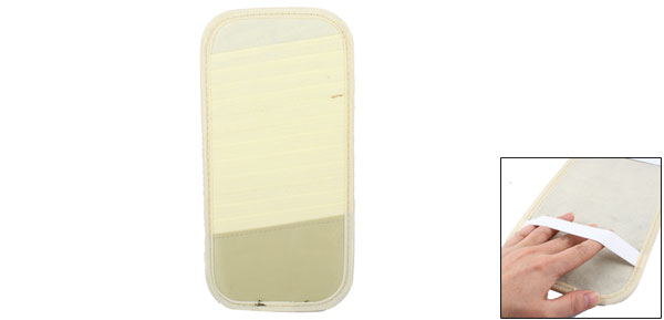 Car Auto Interior Sun Visor 13 Pieces DVD CD Holder Pocket Case Beige