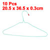 "10 Pcs 14.5"" Width Clothes Coat Sweater Trousers Hangers Hook Gre..."