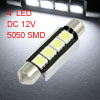 White 4 5050 SMD LED Canbus Car License Plate Light Lamp 41mm w H...