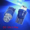 2 Pcs Blue LED T10 W5W Side Wedge Bulbs Light Lamp for Car Auto