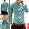 Pure Design Long Sleeve Single Breasted Light Blue Snap Shirt For...