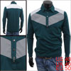 Korea Stylish Dark Green Button Fastening Front Pullover Polo Shi...