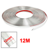 Silver Tone PVC Adhesive Car Window Moulding Trim Strip Line 12M x 12mm