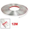 39ft Long Silver Tone PVC Adhesive Moulding Trim Strip Grille Win...