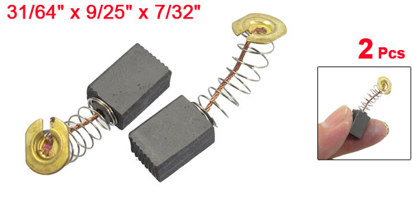 12.5mm x 9mm x 5.5mm Carbon Brushes for Generic Electric Motor 2pcs