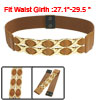 Ladies Gold Tone Metallic 8 Shapes Decor Faux Leather Stretchy Wa...