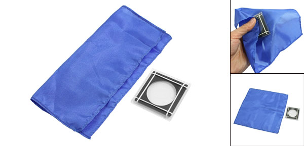 Magical Coin Blue Handkerchief Conjuring Game Props Funny Trick Playing Tool