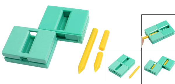 Charmer Revertible Broken Pencil Magic Trick Box Conjuring Tool Green Yellow
