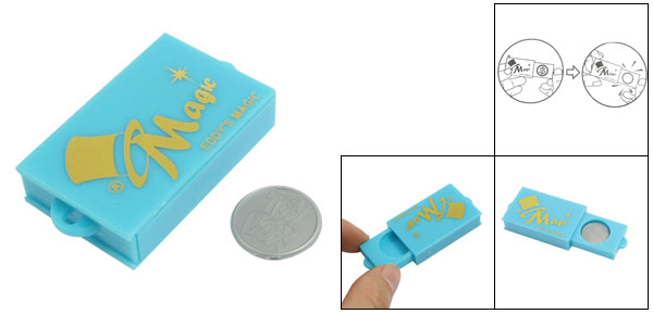 Magic Disappearing Coin Slide Case Trick Toy Plastic Tool Set