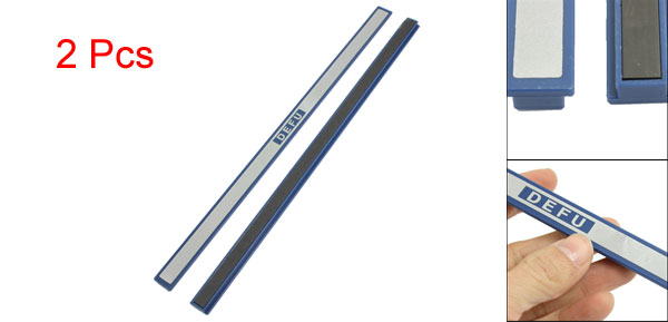 Office Blue Plastic White Board Magnetic Stripes Bars 30cm Length 2 Pcs