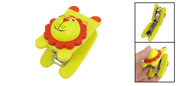 Office Portable Yellow Red Lion Head Wooden Shell 15 Sheets Stapler