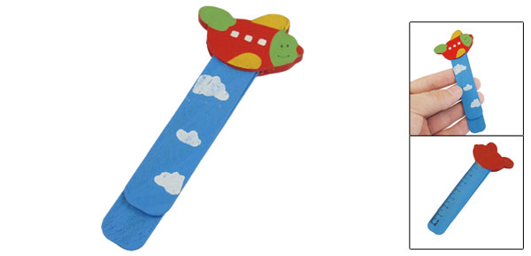 Blue Red Bird Head Cloud Printed Self Marking Bookmark Page Holder