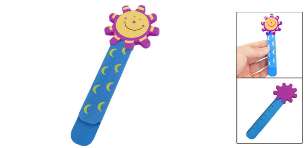 Blue Purple Wooden Cartoon Sunflower Head 0-8cm Highlight Mark Paper Clip