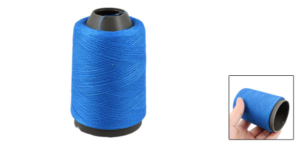 Household Light Blue Polyester Darning Stitching Sewing Thread Reel