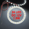 Auto Car 80mm Diameter 1210 SMD 24 LED Headlight Lamp 1.5W 12V DC