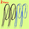 Men Sneakers Brown Blue Nylon Flat Shoelaces Shoe Lace 2 Pairs