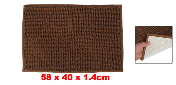 Brown Antislip Microfiber Chenille Floor Room Area Rug Carpet