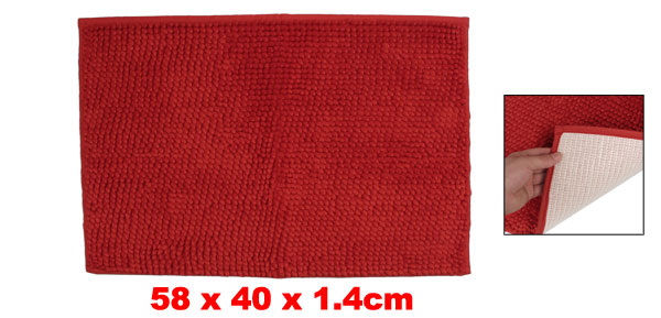 Bathroom Hallway Red 58cm x 40cm Nonslip Mat Area Rug Carpet Pad