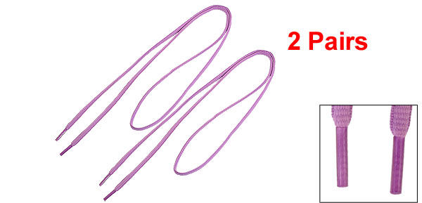 Purple Shoelaces Shoes Strings Replacement 2 Pairs