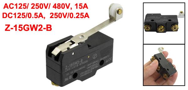 Long Roller Lever Design Position Limit Switch Z-15GW2-B