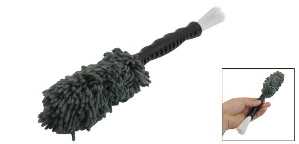 Black Plastic Grip Gray Acrylic Car Air Conditioner Washing Brush