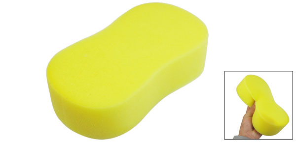 Yellow Soft Sponge Car Glass Wash Cleaning Pad Cushion