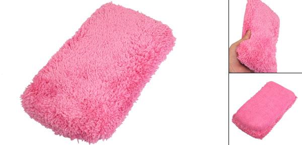 Fuchsia 2 in 1 Design Auto Car Wash Dry Microfiber Sponge Pad