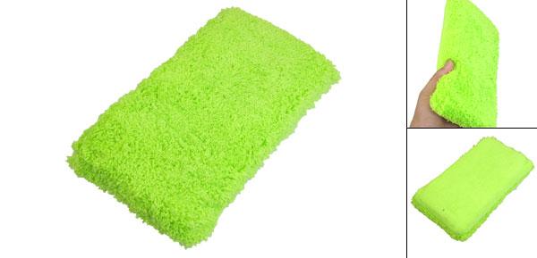 Car Vehicles Washing Drying Microfiber Sponge Pad Green